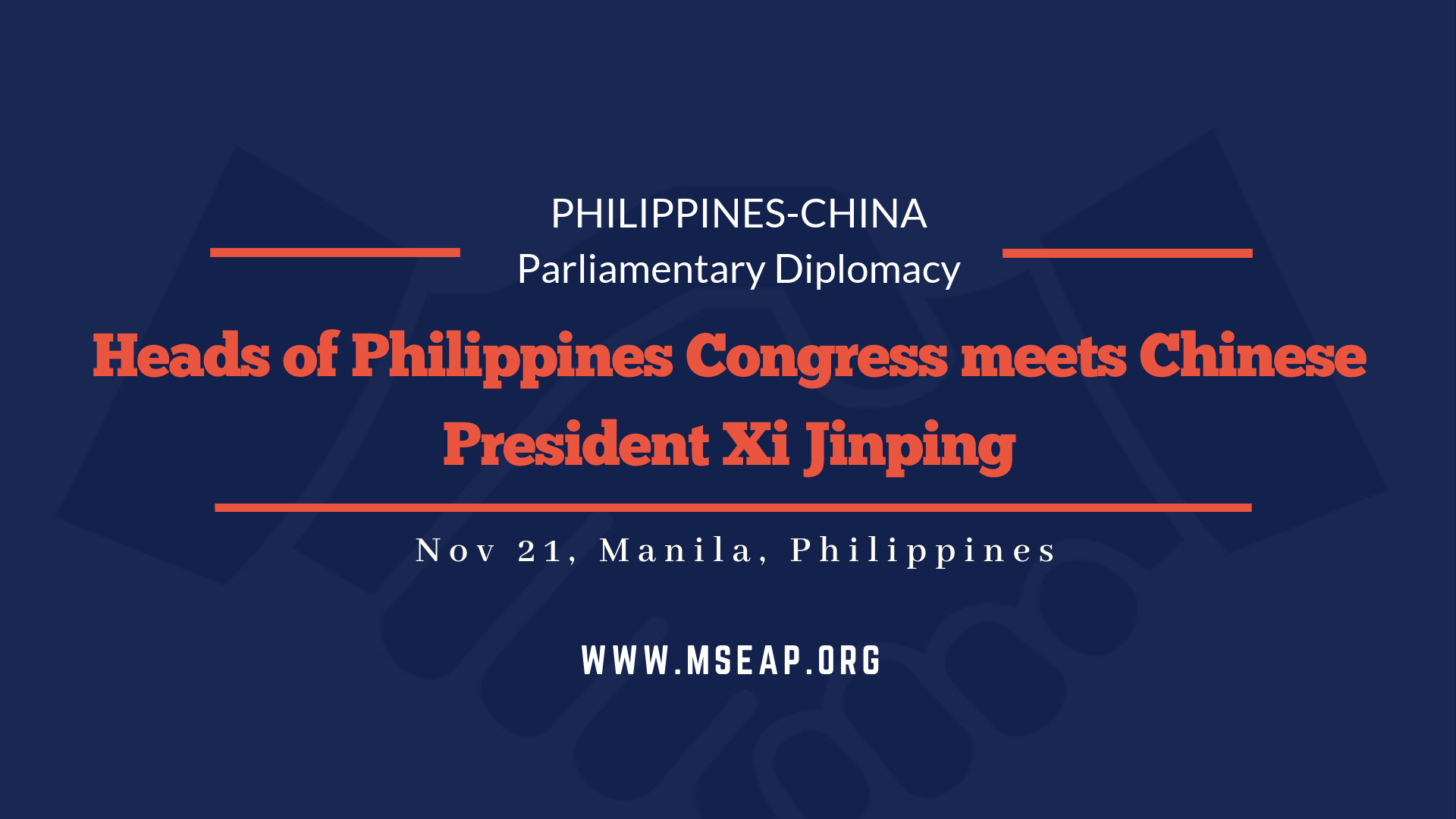 Heads of Philippines Congress meets Chinese President Xi Jinping
