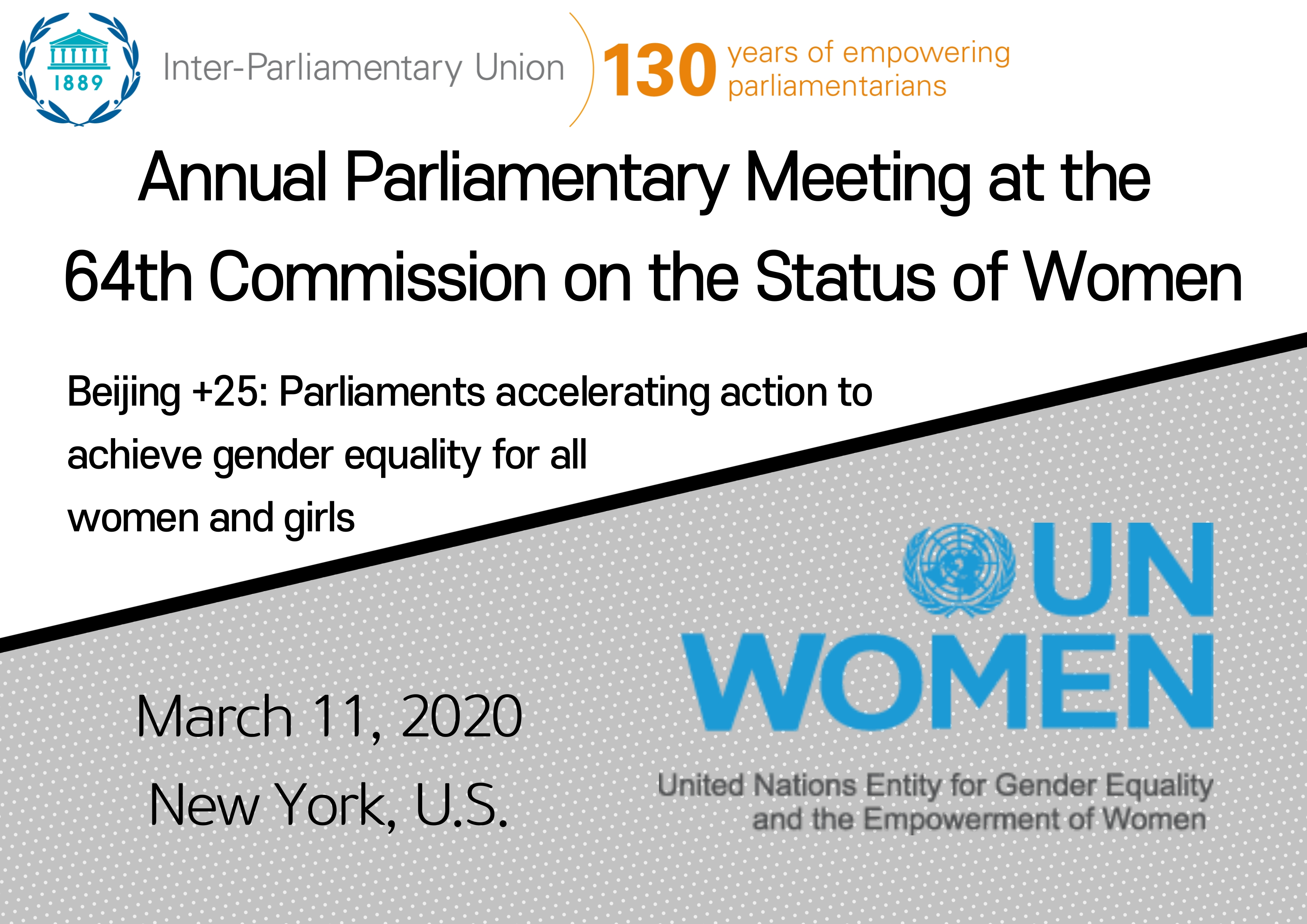 Annual Parliamentary Meeting at the 64th Commission on the Status of Women