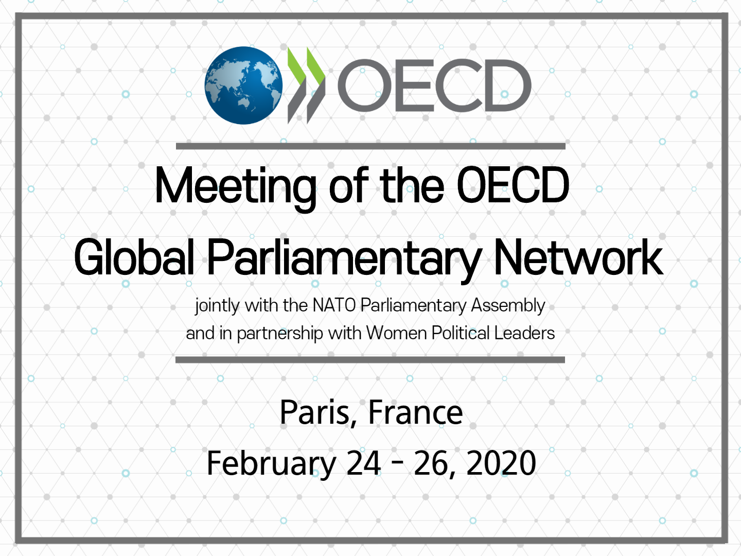 Meeting of the OECD Global Parliamentary Network