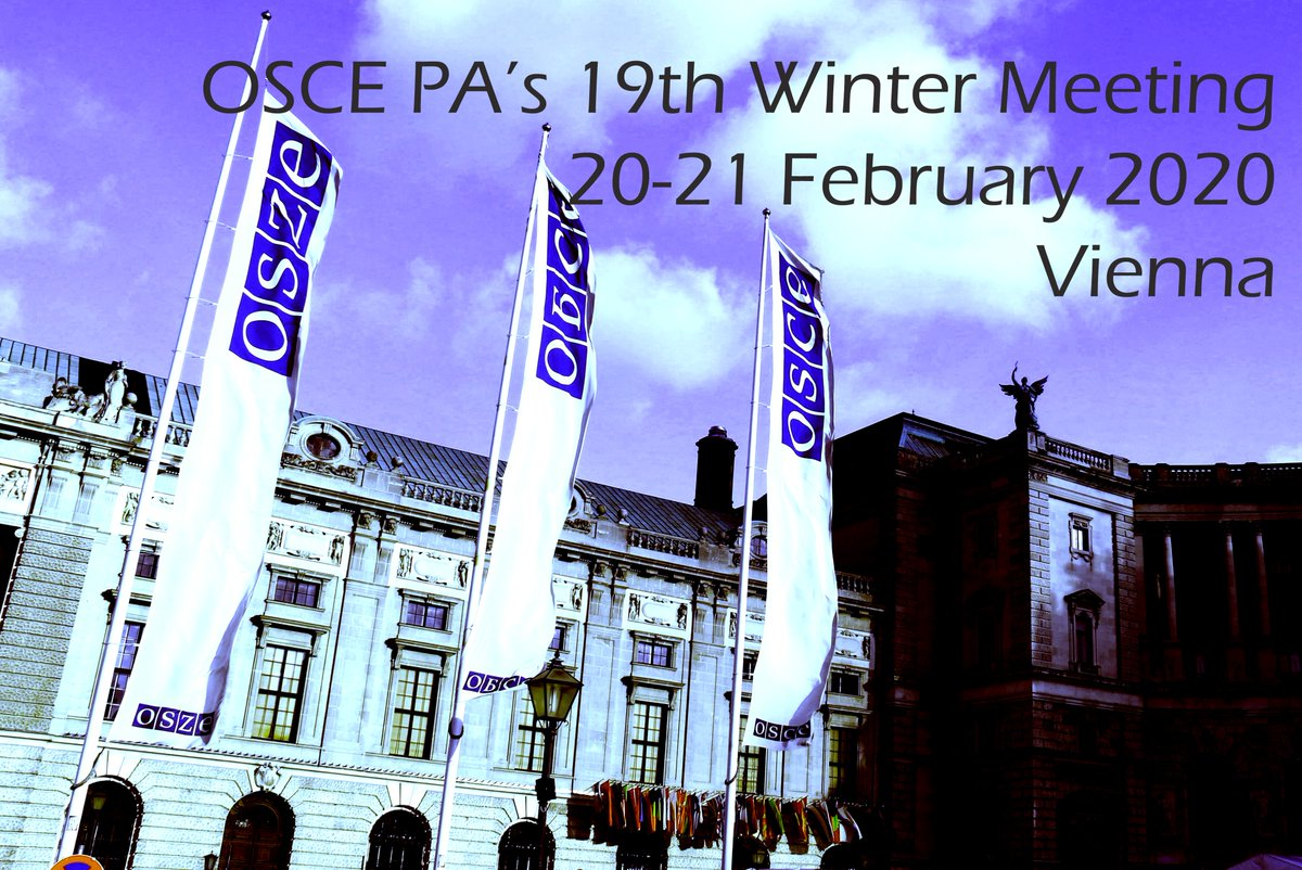 [Feb 19] OSCE PA's 19th Winter Meeting to be held on February 20~21, 2020 in Vienna