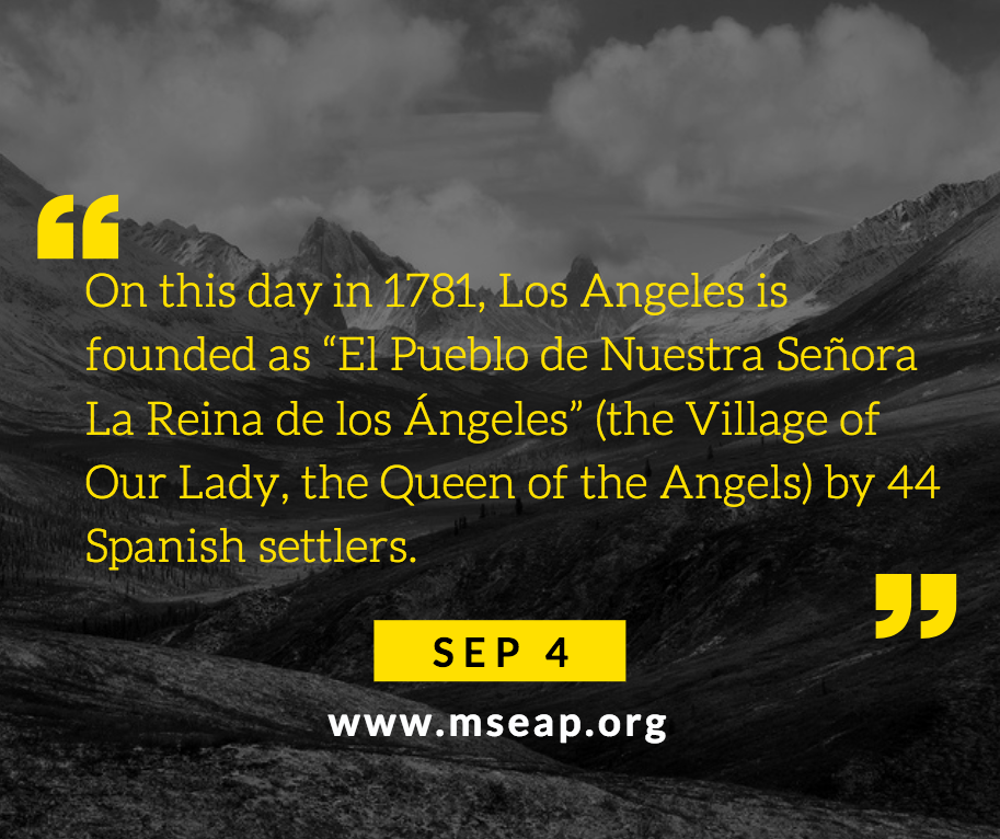 [Today in history] Sep 4