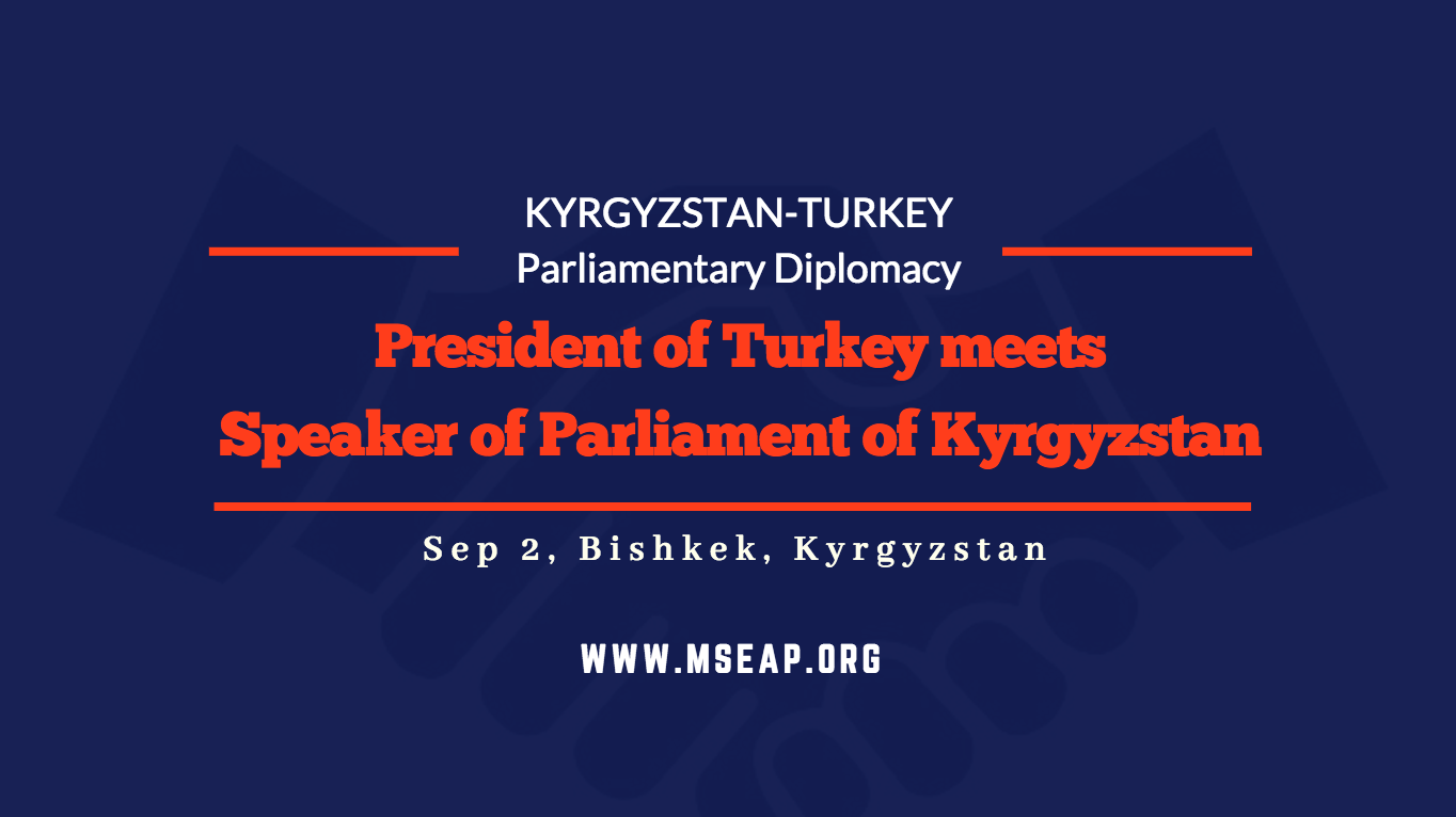 Turkish President meets the Parliament Speaker of Kyrgyzstan