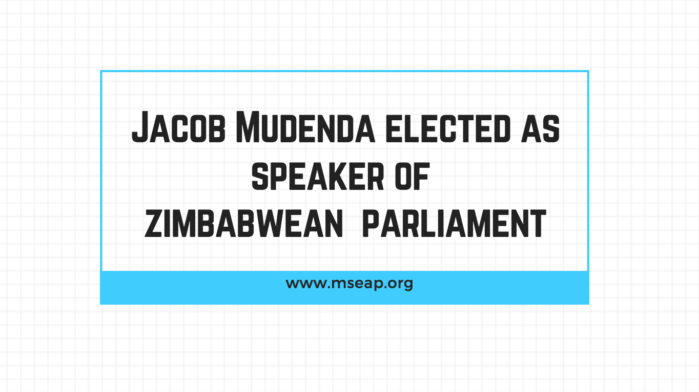 Mudenda elected as Speaker of Zimbabwean House of Assembly