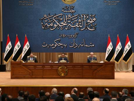 Iraqi Prime Minister sworn in with a partial cabinet of 14 ministers