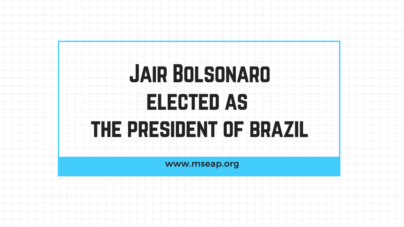 Far-right candidate Jair Bolsonaro wins Brazil's presidential election