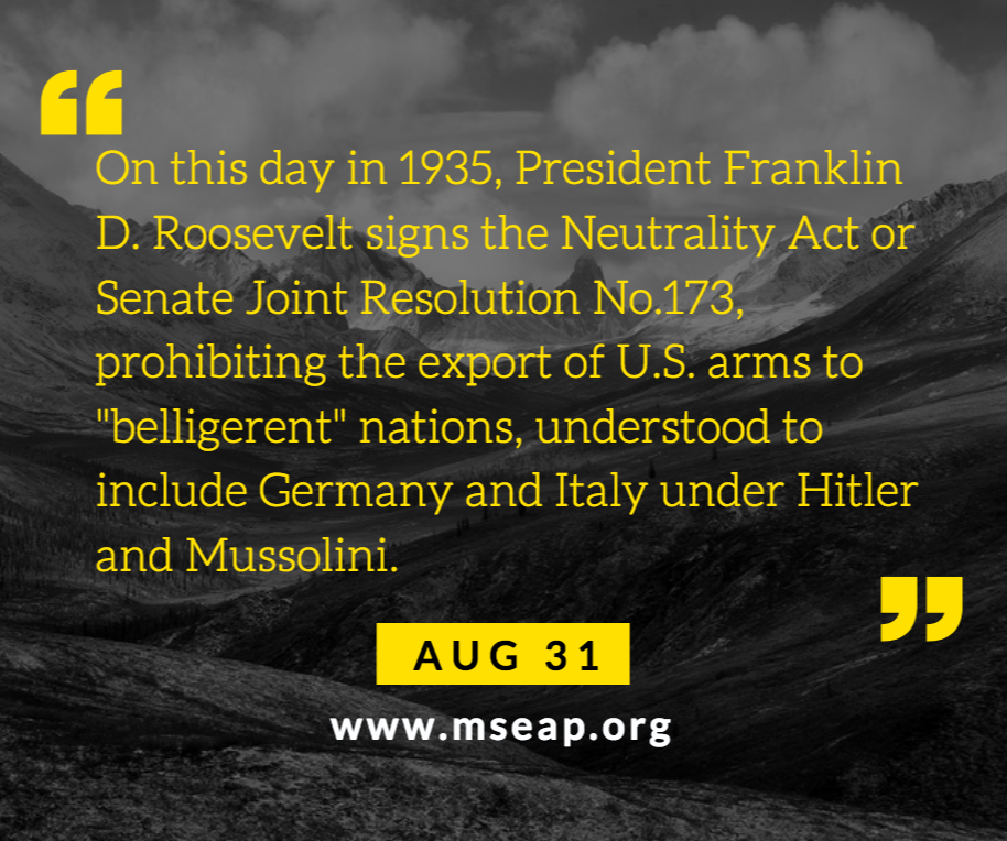 [Today in history] Aug 31