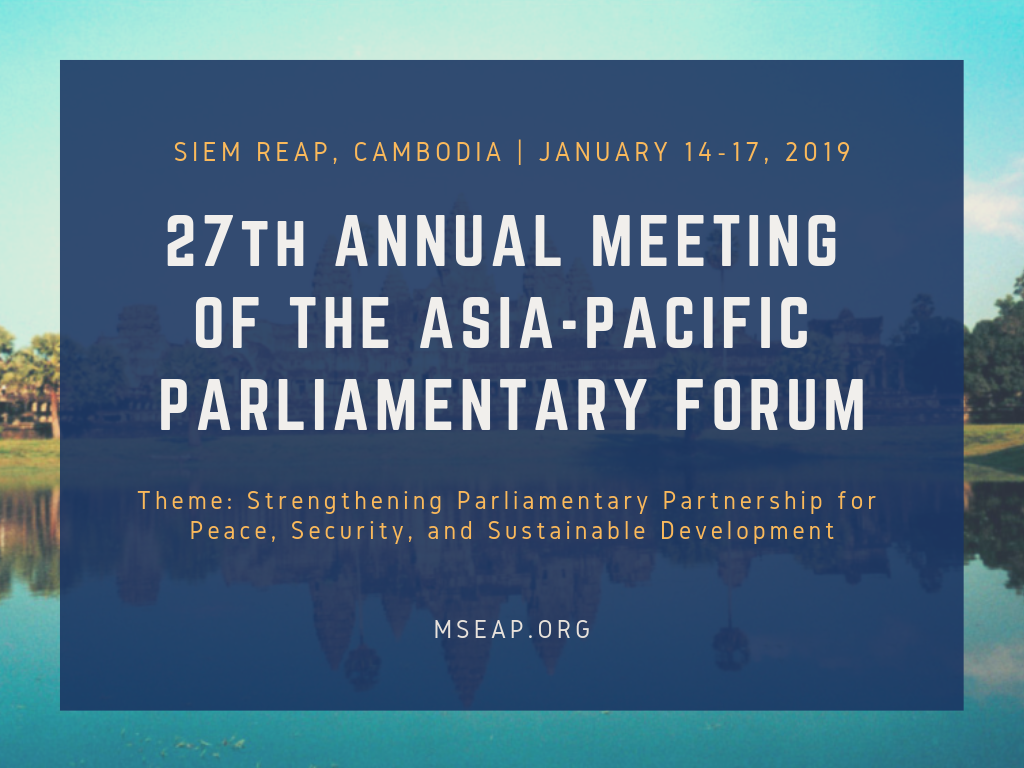 27th Annual Meeting of the Asia-Pacific Parliamentary Forum