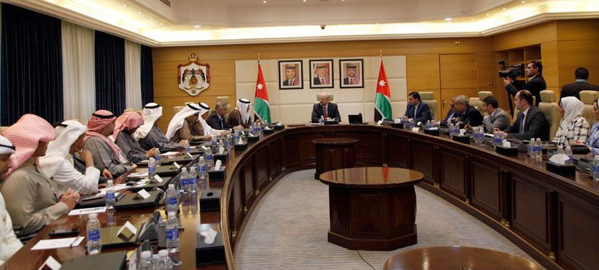 [Nov 20] Jordanian Prime Minister meets with Kuwaiti delegates from industrial-commercial sectors